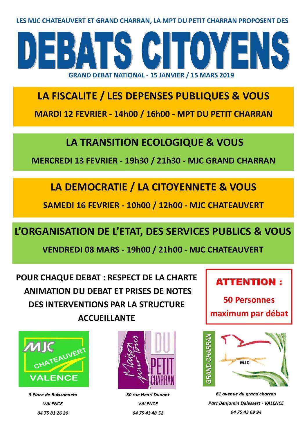 """Débat citoyen - """"L'ORGANISATION DE L'ETAT, DES SERVICES PUBLICS et VOUS"""""""